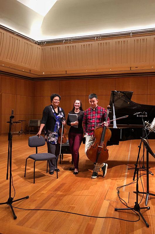 Wilma Smith, Yasmin Rowe, Yelian He, Rock Paper Scissors Trio